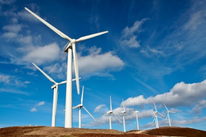 studio wind powered - Wind turbines farm